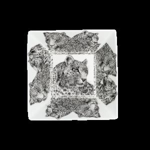 Servizio fotografico Prodotti Catalogo E-Commerce Taitù Milano Collezione Wild Spirit Porcellana Fine Bone China Ciotola quadrata Leopardo