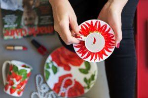 Servizio fotografico Taitù Milano Collezione Red Porcellana Fine Bone China
